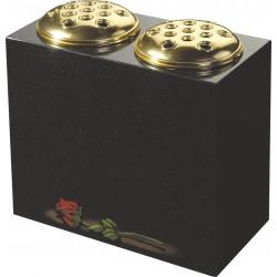 Vase w Two Flower c