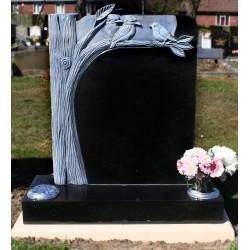 Carved tree memorial