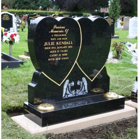 Double heart memorial