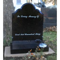 Coleby Shape Memorial In Star Galaxy Granite
