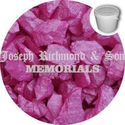 Hot Pink Silk Dyed Chippings