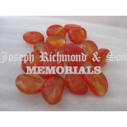 Orange Round Glass Beads