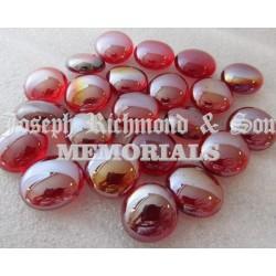 Red Round Glass Beads