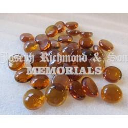 Amber Round Glass Beads