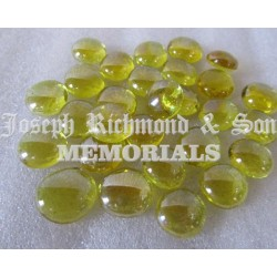 Yellow Round Glass Beads