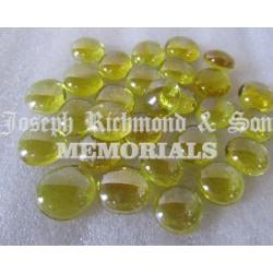 Yellow Round Glass Beads