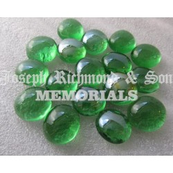 Green Round Glass Beads