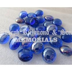 Blue Round Glass Beads