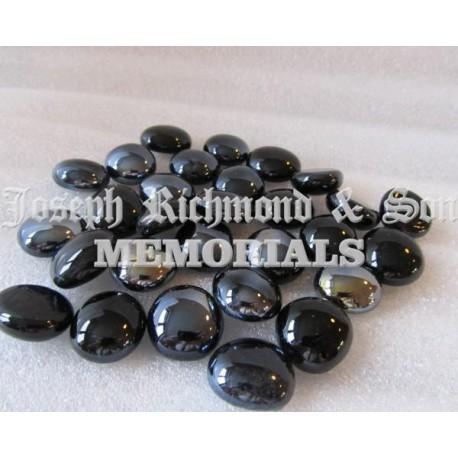 Black Round Glass Beads