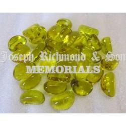 Yellow Glass Kidney Pebbles