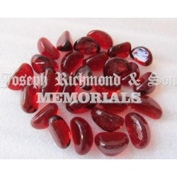Red Glass Kidney Pebbles
