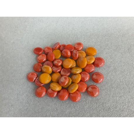 Orange Porcelain Round Beads