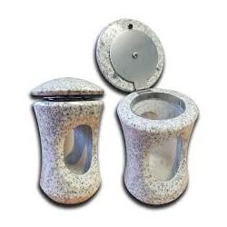 Granite Candle Lantern