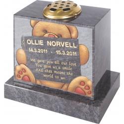 Ollie Bear on Vase